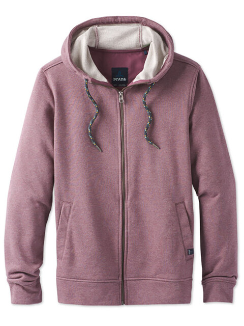 Prana M's Asbury Full Zip Hood Thistle Heather